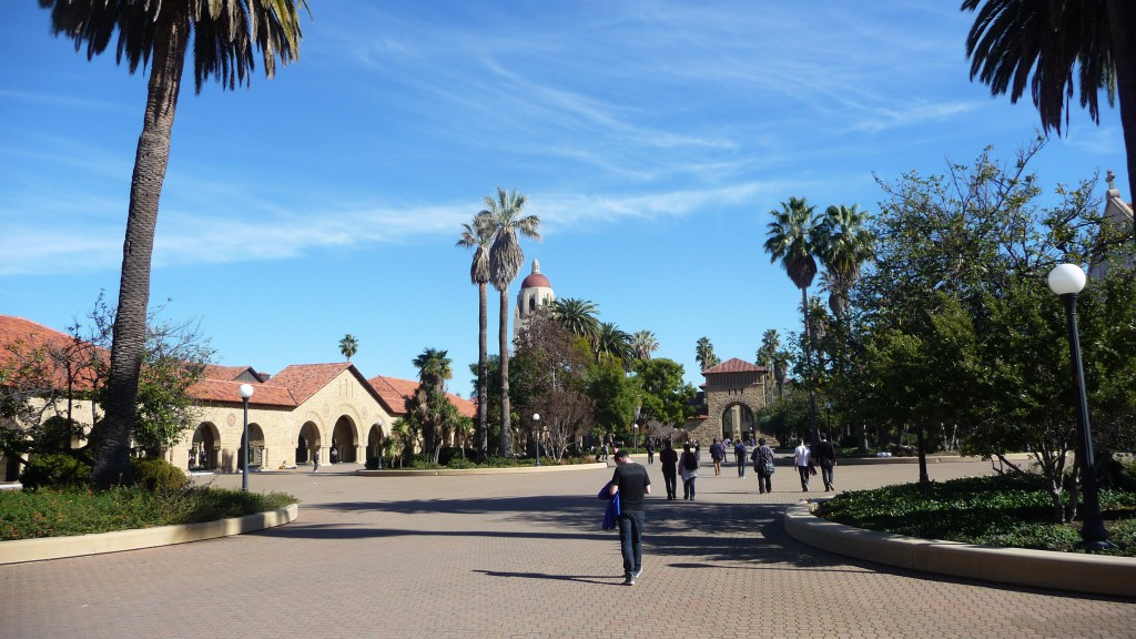 One of Stanford University's courtyard